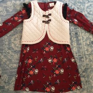 Girl's Hanna Andersson dress & vest